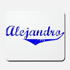 Alejandro Vintage (Blue) Mousepad