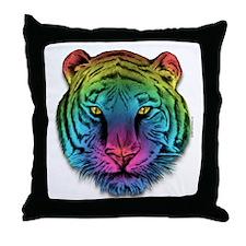 Gay Lesbian Pride Rainbow Tiger Throw Pillow