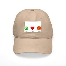 Peace, Love, Hoops Baseball Cap