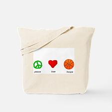 Peace, Love, Hoops Tote Bag