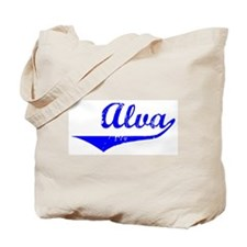 Alva Vintage (Blue) Tote Bag