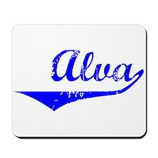 Alva Vintage (Blue) Mousepad