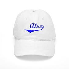 Alva Vintage (Blue) Baseball Baseball Cap