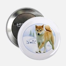 "Shiba Noel 2.25"" Button (100 pack)"