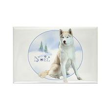 Husky Noel Rectangle Magnet