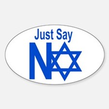 Say No To Apartheid Oval Decal