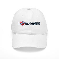 i heart swimming Baseball Cap