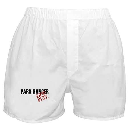 Off Duty Park Ranger Boxer Shorts