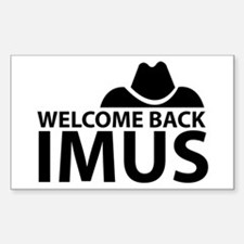 Welcome Back Imus Rectangle Decal