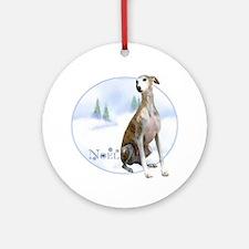 Whippet Noel Ornament (Round)