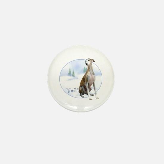 Whippet Noel Mini Button
