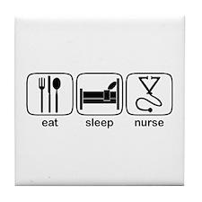 Eat Sleep Nurse 2 Tile Coaster