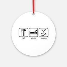 Eat Sleep Nurse 2 Ornament (Round)