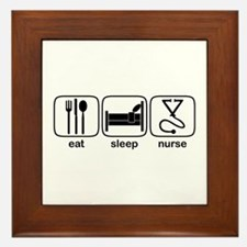 Eat Sleep Nurse 2 Framed Tile