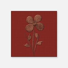 Cute Copper Flower Red Canvas Sticker
