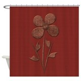 Copper flower Shower Curtains