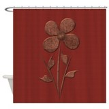 Copper flower Shower Curtains