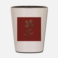 Cute Copper Flower Red Canvas Shot Glass