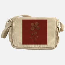 Cute Copper Flower Red Canvas Messenger Bag