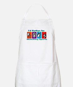 I'd Rather Be Watching Sports BBQ Apron