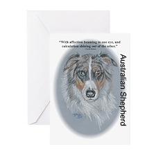 """Australian Shepherd """"Eyes"""" Greeting Cards (Package"""