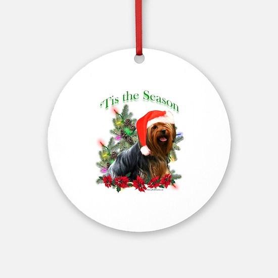 Yorkie Noel Ornament (Round)