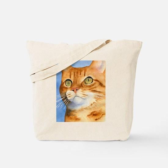 Red / Orange Tabby Tote Bag