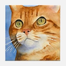 Red / Orange Tabby Tile Coaster
