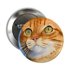 """Red / Orange Tabby 2.25"""" Button (100 pack)"""