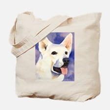 White German Shepherd Tote Bag