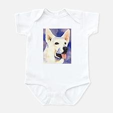 White German Shepherd Infant Bodysuit