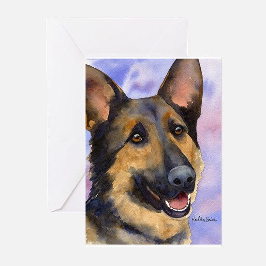 German Sheperd 3 Greeting Cards (Pk of 10)