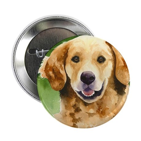 "Golden Retriever 4 2.25"" Button (100 pack)"