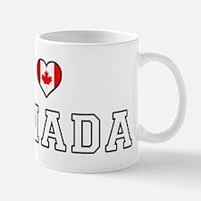 I Love Canada Mugs