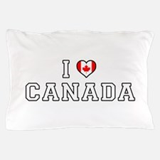 I Love Canada Pillow Case