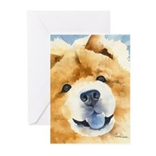 Chow Chow 2 Greeting Cards (Pk of 10)