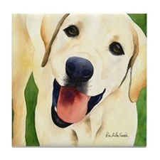 Yellow Lab 4 Tile Coaster