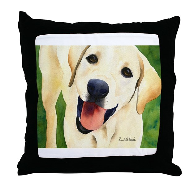 Yellow Lab 4 Throw Pillow by mypetstore