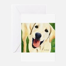 Yellow Lab 4 Greeting Cards (Pk of 10)