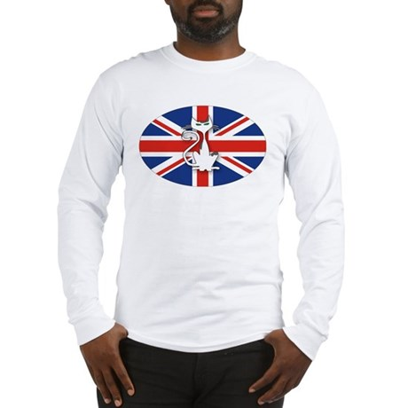 Mod Evil Scooter Kitty Long Sleeve T-Shirt