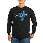 Cyan Gecko Long Sleeve Dark T-Shirt