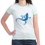 Cyan Gecko Jr. Ringer T-Shirt