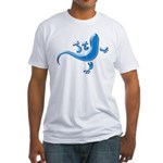 Cyan Gecko Fitted T-Shirt