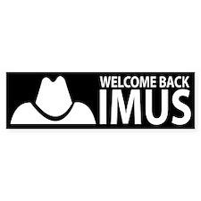 Welcome Back Imus Bumper Bumper Sticker
