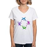 4 Geckos 4 Women's V-Neck T-Shirt