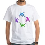 4 Geckos 4 White T-Shirt