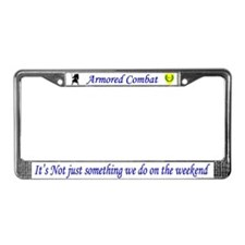 Not Just Armored Combat License Plate Frame