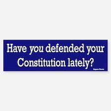 Defend your Constitution Bumper Bumper Bumper Sticker