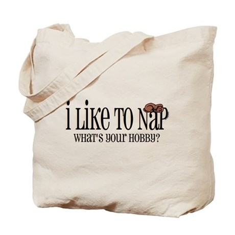 I Like To Nap Dog Tote Bag