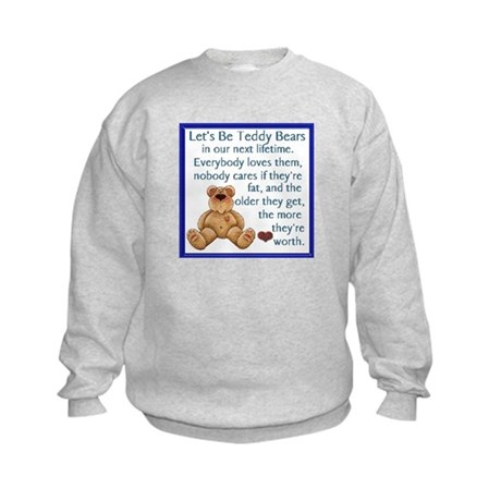 Let's Be Teddy Bears Kids Sweatshirt